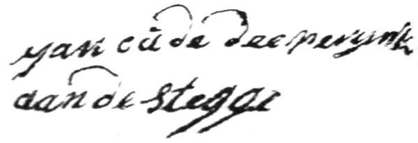 Akte van bekendheid van Joannes aan de Stegge, een extract van het doopboek van de r.k. kerk te Ootmarsum